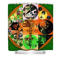 Shower Curtain featuring the digital art Abstract Painting - Lincoln Green by Vitaliy Gladkiy