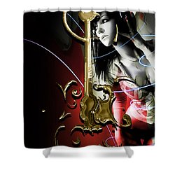 Acoustic Guitar Music Collection Shower Curtain by Marvin Blaine