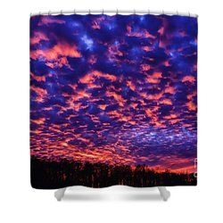Shower Curtain featuring the photograph Appalachian Sunset Afterglow by Thomas R Fletcher