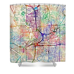 Atlanta Georgia City Map Shower Curtain