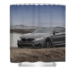 Shower Curtain featuring the photograph Bmw M4 by ItzKirb Photography