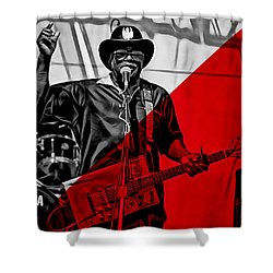 Bo Diddley Collection Shower Curtain by Marvin Blaine