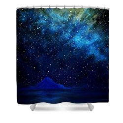 Shower Curtain featuring the painting Cosmic Light Series by Len Sodenkamp