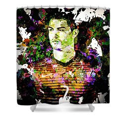 Cristiano Ronaldo Shower Curtain by Svelby Art