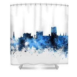 Durham England Skyline Cityscape Shower Curtain