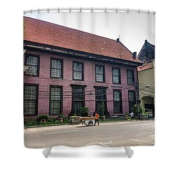Dutch Colonial Buildings In Old Town Of Jakarta Indonesia Shower Curtain