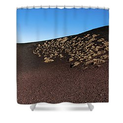 Etna, Red Mount Crater Shower Curtain