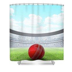 Floodlit Stadium Day Shower Curtain