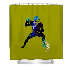 Football Collection Shower Curtain by Marvin Blaine