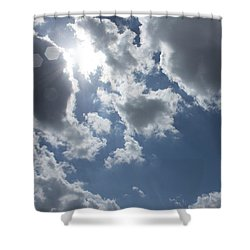 Shower Curtain featuring the photograph 6-gon Boken Sky by Megan Dirsa-DuBois