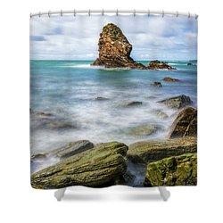 Gwenfaens Pillar Shower Curtain