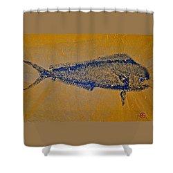 Gyotaku - Mahi Mahi - Dorado - Dolphinfish Shower Curtain