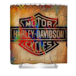 Harley Davidson Cycles Shower Curtain