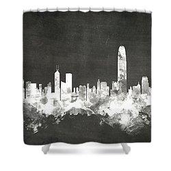 Hong Kong Skyline Shower Curtain by Michael Tompsett