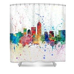 Indianapolis Indiana Skyline Shower Curtain