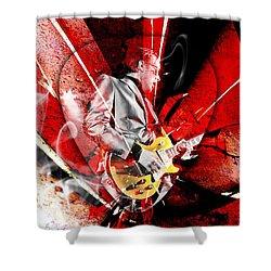 Joe Bonamassa Blues Guitarist Art. Shower Curtain by Marvin Blaine