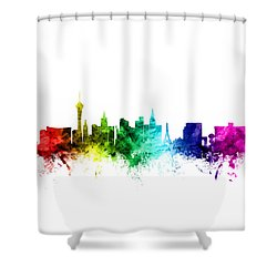 Las Vegas Nevada Skyline Shower Curtain