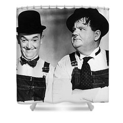 Laurel And Hardy Shower Curtain by Granger