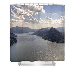 Lugano Shower Curtain by Joana Kruse