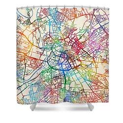 Manchester England Street Map Shower Curtain