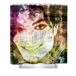 Michael Jackson Shower Curtain by Svelby Art