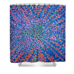 Shower Curtain featuring the painting Mobius Band by Kyung Hee Hogg