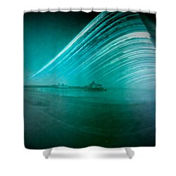 6 Month Exposure Of Eastbourne Pier Shower Curtain