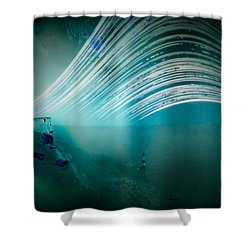 6 Month Exposure Overlooking The Beachy Head Lighthouse Shower Curtain