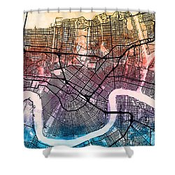 New Orleans Street Map Shower Curtain