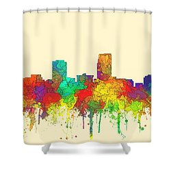 Omaha Nebraska Skyline Shower Curtain