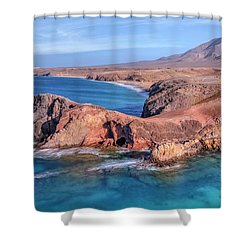 Playa Papagayo - Lanzarote Shower Curtain by Joana Kruse
