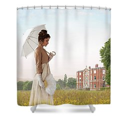 Regency Woman Shower Curtain by Lee Avison