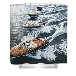Riva Runabouts Shower Curtain