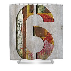 Number 6 Shower Curtain