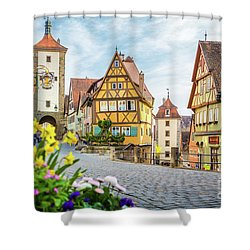 Rothenburg Ob Der Tauber Shower Curtain by JR Photography