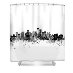 Seattle Washington Skyline Shower Curtain by Michael Tompsett