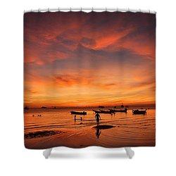 Sunrise On Koh Tao Island In Thailand Shower Curtain