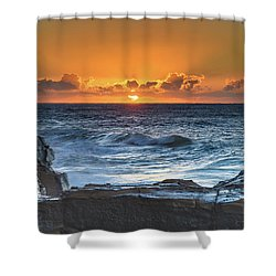 Sunrise Seascape With Sun Shower Curtain