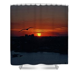 Shower Curtain featuring the photograph 6- Sunset by Joseph Keane