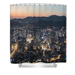 Sunset Over Seoul Shower Curtain
