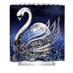 Swan Art Shower Curtain