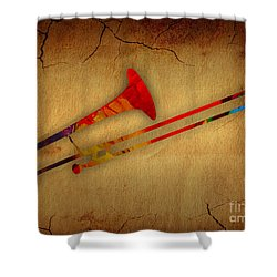 Trombone Collection Shower Curtain