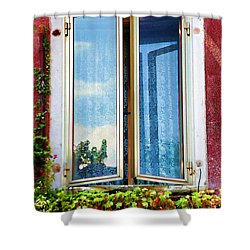 Venice - Untitled Shower Curtain by Brian Davis