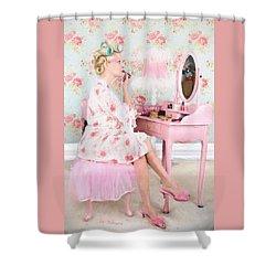 Vintage Valentine Date Shower Curtain