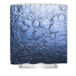 Water Abstraction - Blue Shower Curtain by Alex Potemkin