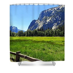 Yosemite Meadow Photograph Shower Curtain
