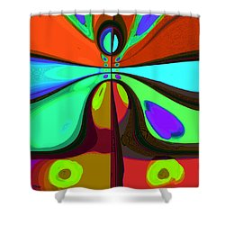 60s Free Love Shower Curtain