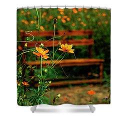 Galsang Flowers In Garden Shower Curtain