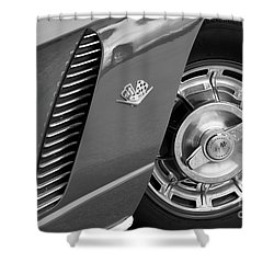 Shower Curtain featuring the photograph '62 In Black And White by Dennis Hedberg