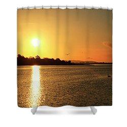 6.25am Shower Curtain by Martina Fagan